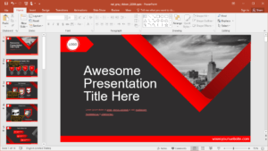 Animated Red Grey Powerpoint Template for Powerpoint Presentation Animation Templates