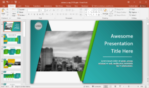 Animated Wrapping Shapes Powerpoint Template within Replace Powerpoint Template
