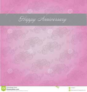 Anniversary Template Stock Vector. Illustration Of Greeting with Template For Anniversary Card
