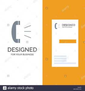 Answer, Call, Client Support, Customer Support Grey Logo with Customer Information Card Template