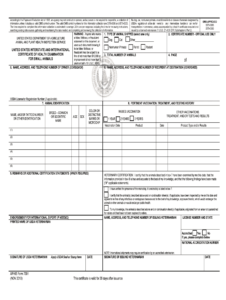 Aphis Form 7001 – Fill Online, Printable, Fillable, Blank for Veterinary Health Certificate Template
