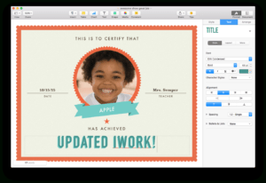 Apple Updates Iwork For Mac, With Force Touch And Split View with Certificate Template For Pages