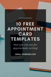 Appointment Card Template: 10 Free Resources For Small throughout Free Place Card Templates 6 Per Page