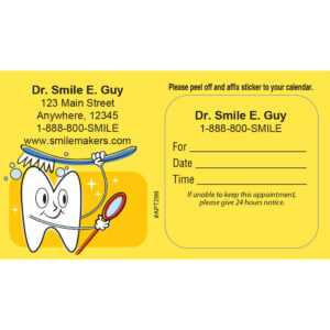Appointment Cards – Marketing Your Practice within Dentist Appointment Card Template
