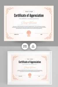 Appreciation Certificate Template in Graduation Certificate Template Word