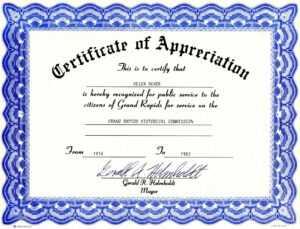 Appreciation Certificate Templates Free Download inside Certificate Of Appreciation Template Free Printable
