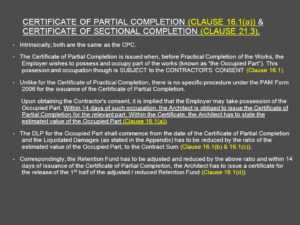 Architect's Certification Under The Pam Contract 2006 regarding Jct Practical Completion Certificate Template