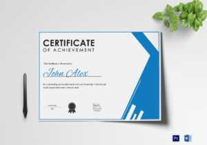 Athletic Achievement Certificate Template within Athletic Certificate Template