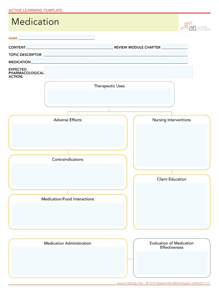 Ati Templates Medication - Fill Online, Printable, Fillable Inside Medication Card Template