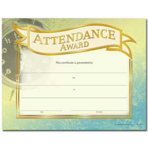 Attendance Award Gold Foil-Stamped Certificates – Pack Of 25 pertaining to Promotion Certificate Template