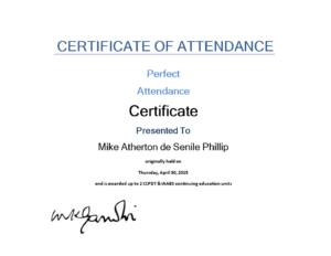 Attendance Certificate Sample | Templates At pertaining to Continuing Education Certificate Template