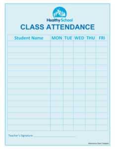 Attendance Sheet Template | Johannes Kr within Student Information Card Template