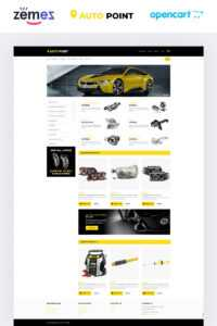 Auto Parts Responsive Opencart Template inside Automotive Gift Certificate Template