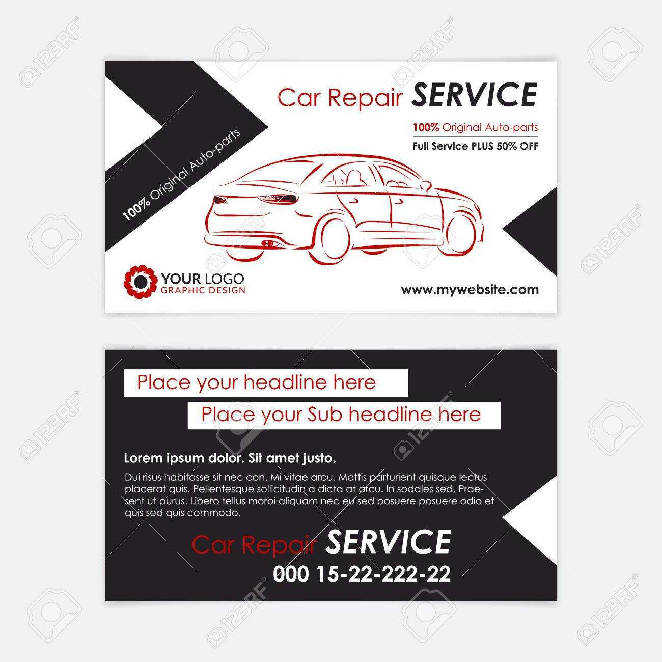Auto Repair Business Card Template. Create Your Own Business.. Intended For Automotive Business Card Templates