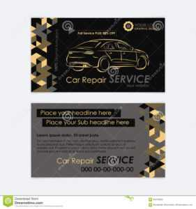 Automotive Service Business Card Template. Car Diagnostics in Transport Business Cards Templates Free