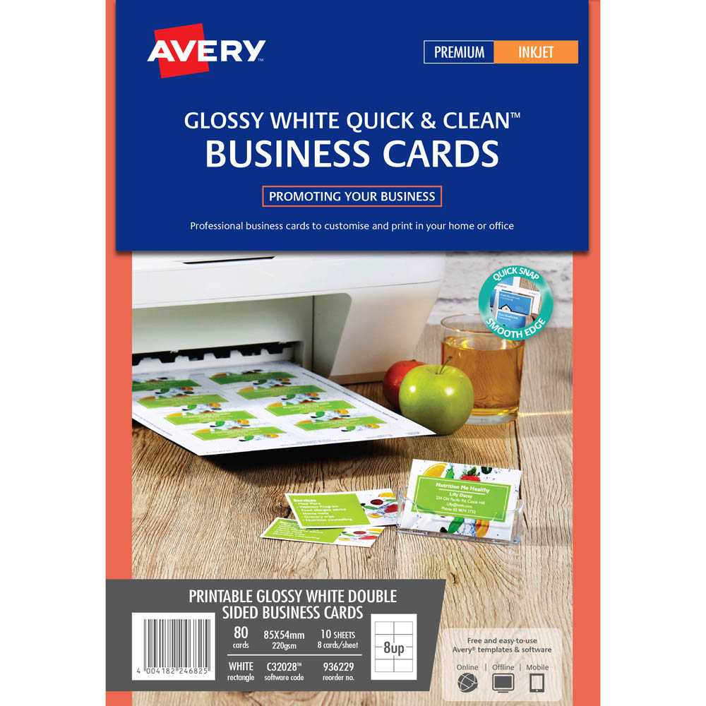 Avery 936229 C32028 Quick Clean Business Card 220Gsm 85 X Inside Office Depot Business Card Template