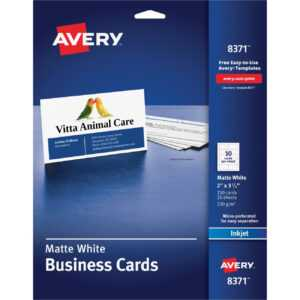 """Avery® Inkjet Print Business Card – A8 – 2"""" X 3 1/2"""" – Matte – 250 / Pack –  White pertaining to Staples Business Card Template Word"""