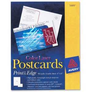 "Avery® Postcards, Uncoated, Two-Sided Printing, 4"" X 6"", 80 Cards (5889) throughout Quarter Fold Greeting Card Template"