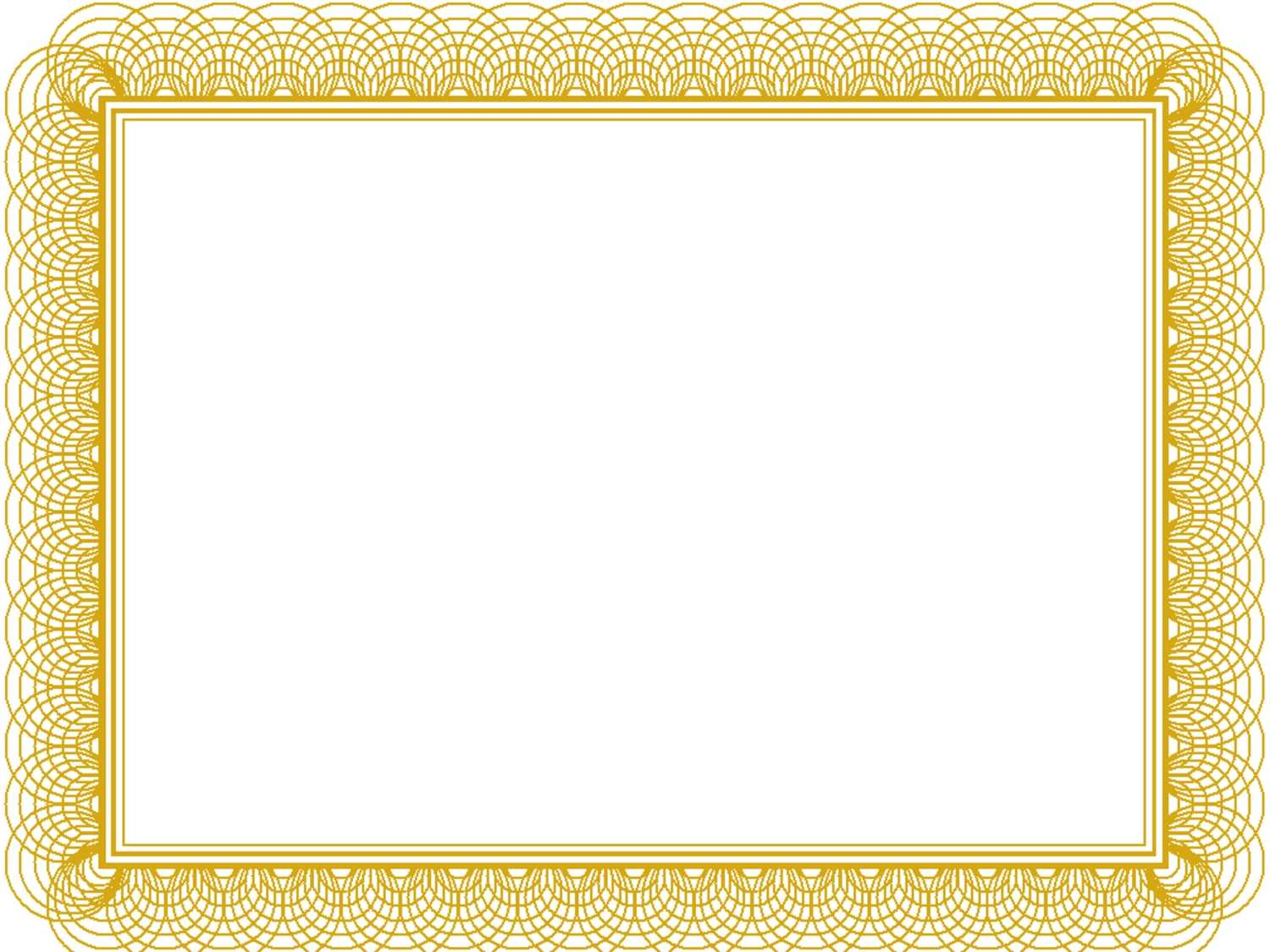 Award Certificate Border Template Pertaining To Gold Within Award Certificate Border Template