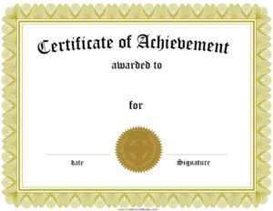 Award Certificate Template Certificate Templates Best Free regarding Template For Certificate Of Award
