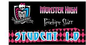 Awesome Monster High Party Games ~ Diy And Printables! within Monster High Birthday Card Template