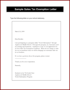 Awesome Tax Exempt Form Request Letter – Models Form Ideas pertaining to Resale Certificate Request Letter Template