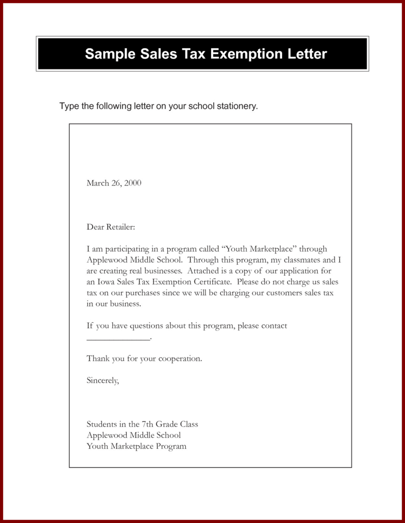 Awesome Tax Exempt Form Request Letter - Models Form Ideas Pertaining To Resale Certificate Request Letter Template