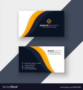 Awesome Yellow Business Card Template in Download Visiting Card Templates
