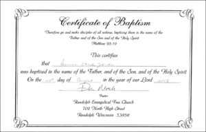 Baby Christening Certificate Template – Great Sample Templates in Baptism Certificate Template Word