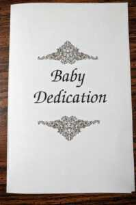 "Baby Dedication"" Ceremony Includes Prayer, Message, Certificate intended for Baby Dedication Certificate Template"