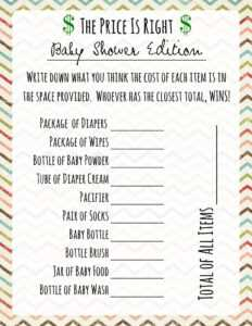 Baby Shower Games: Price Is Right — Frugal Fanatic with Price Is Right Powerpoint Template