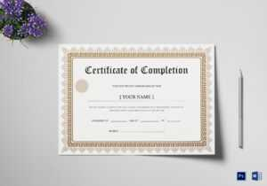 Bachelor Degree Completion Certificate Template pertaining to Graduation Certificate Template Word