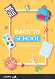 Back School Information Card Set Student Stock Image with regard to Student Information Card Template