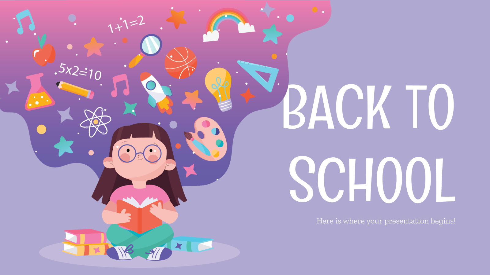 Back To School Social Media Theme For Google Slides And With Back To School Powerpoint Template