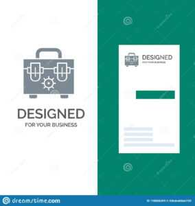 Bag, Construction, Tools Grey Logo Design And Business Card with Construction Business Card Templates Download Free
