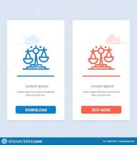 Balance, Law, Justice, Finance Blue And Red Download And Buy within Decision Card Template