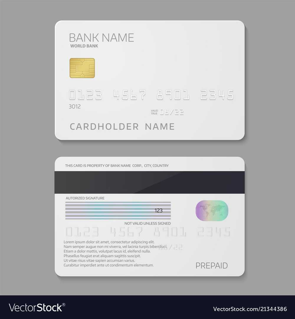 Bank Credit Card Template Intended For Credit Card Templates For Sale