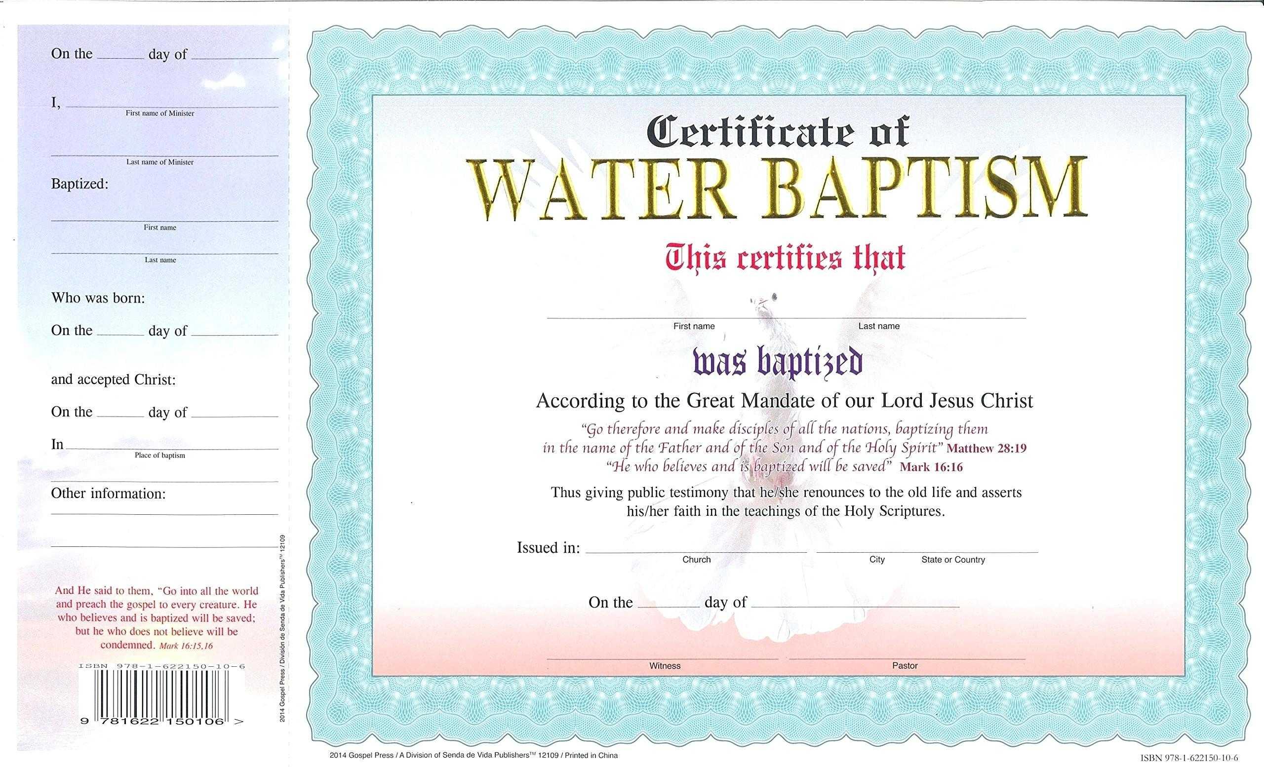 Baptism Certificate Template – Harryatkins Inside Christian Baptism Certificate Template