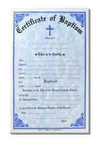 Baptism Certificate Template Word – Heartwork inside Baptism Certificate Template Word