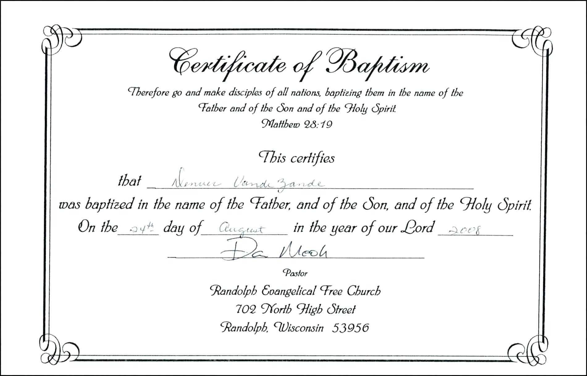 Baptism Certificate Template Word – Heartwork Pertaining To Baby Christening Certificate Template