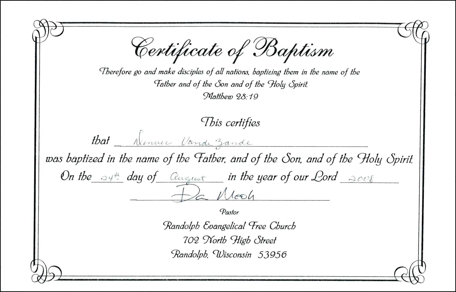 Baptism Certificate Template Word – Heartwork Regarding Christian Baptism Certificate Template