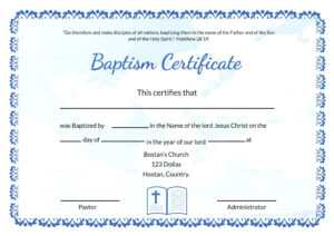 Baptism Certificate Template Word – Heartwork with Baptism Certificate Template Download