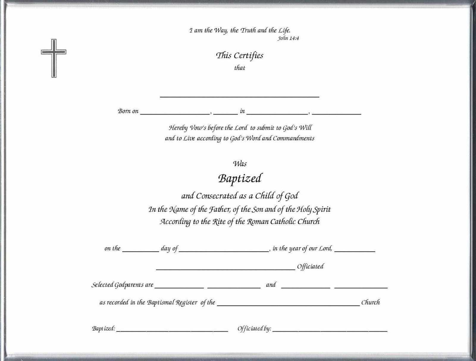 Baptism Class Certificate Template – Carlynstudio Pertaining To Christian Baptism Certificate Template