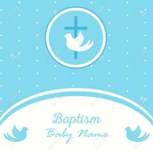 Baptism Invitation Card Template. Stock Vector Illustration For.. regarding Baptism Invitation Card Template