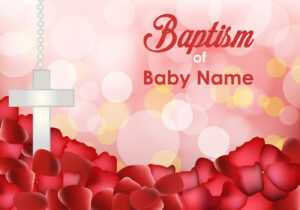Baptism Invitation Free Vector Art – (62 Free Downloads) within Free Christening Invitation Cards Templates