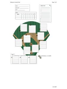 Baseball Lineup Template Fillable – Fill Online, Printable for Free Baseball Lineup Card Template