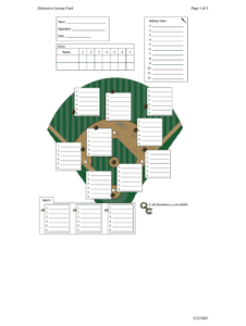 Baseball Lineup Template Fillable – Fill Online, Printable intended for Baseball Lineup Card Template