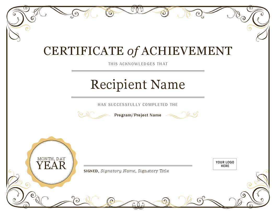 Basic Certificate Template – Oflu.bntl With Award Certificate Templates Word 2007