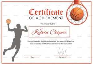 Basketball Award Achievement Certificate Template for Basketball Certificate Template