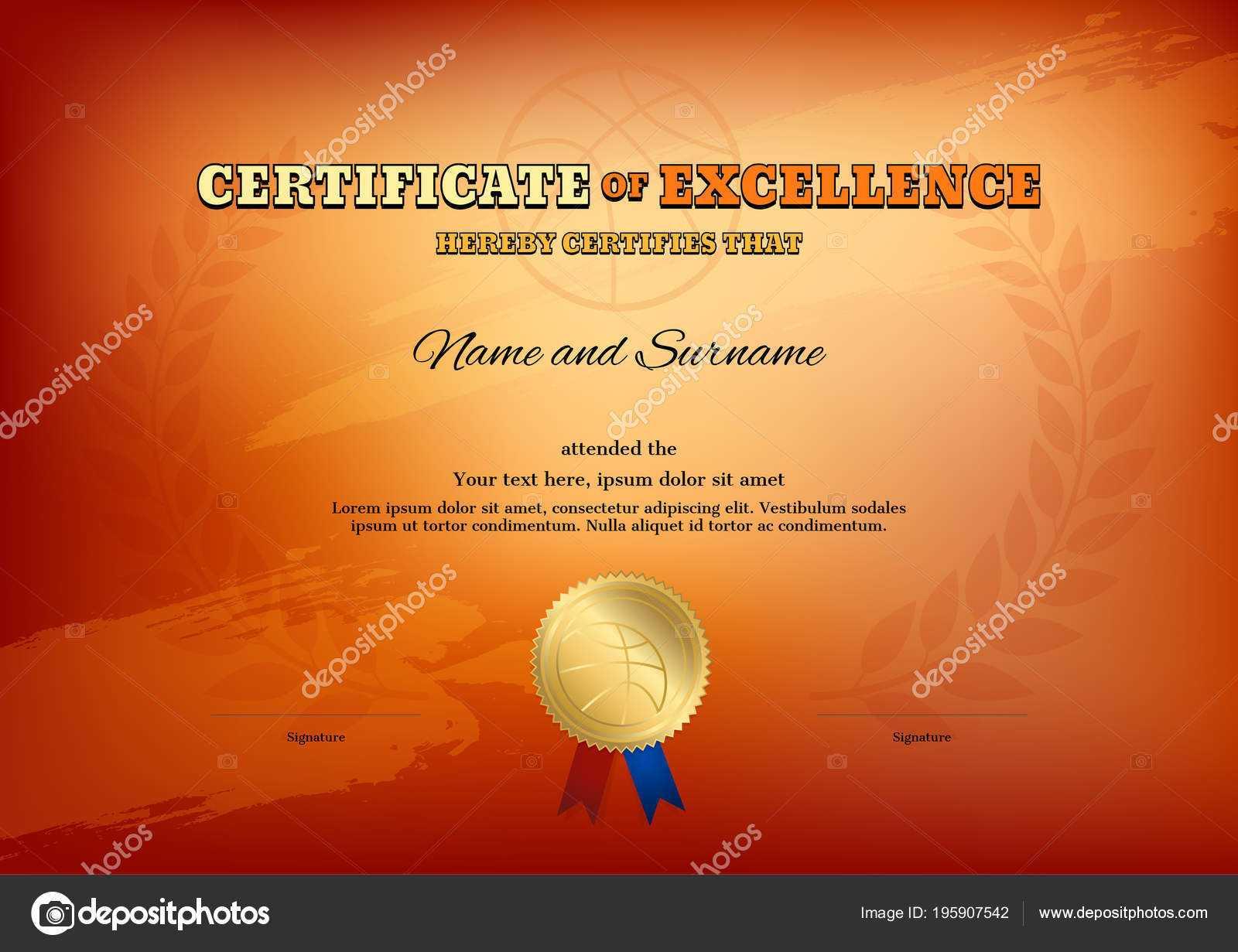 Basketball Camp Certificate Template   Certificate Template Inside Basketball Camp Certificate Template